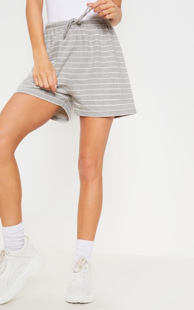 Grey Sweat Stripe Short