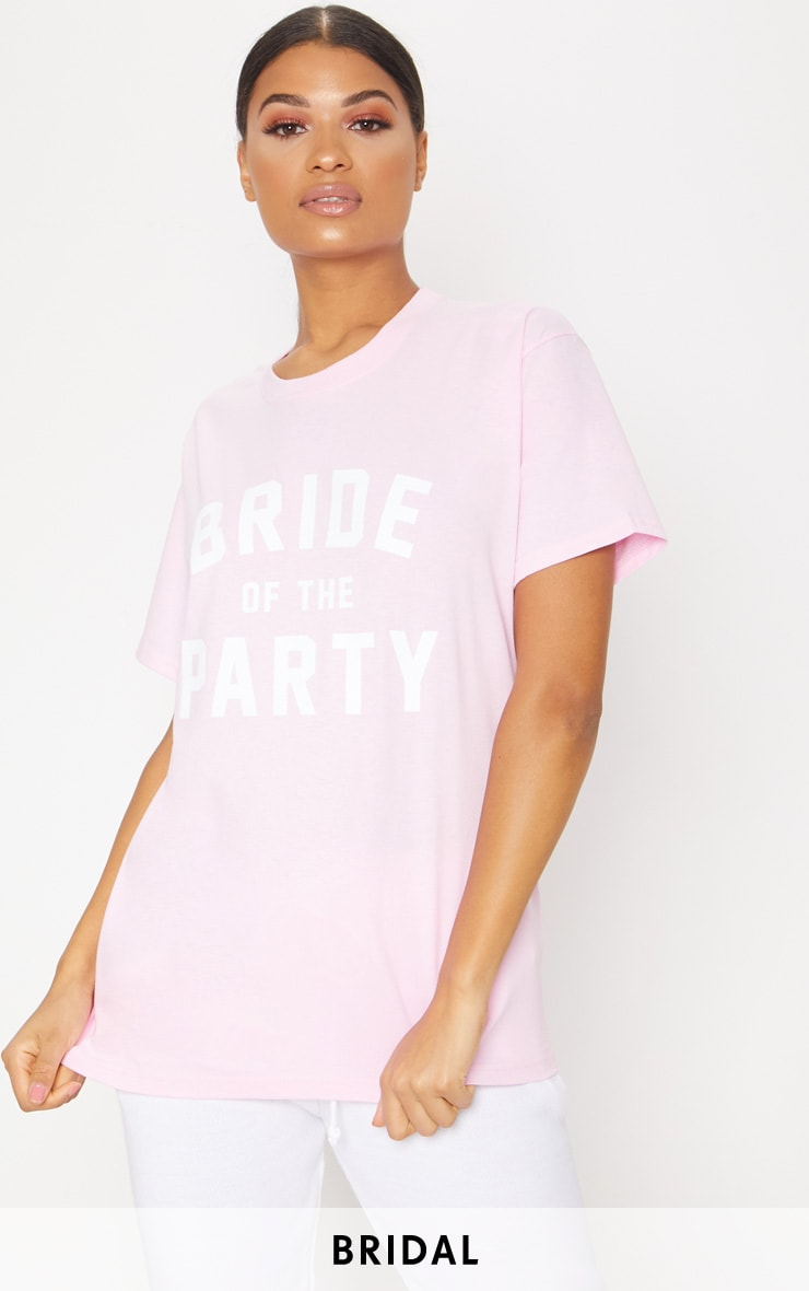 Footlocker Pictures For Sale Deals Online Baby Pink Bride Of The Party Slogan T Shirt Pretty Little Thing Discount Lowest Price Ebay Online The Cheapest Cheap Online EbBxq