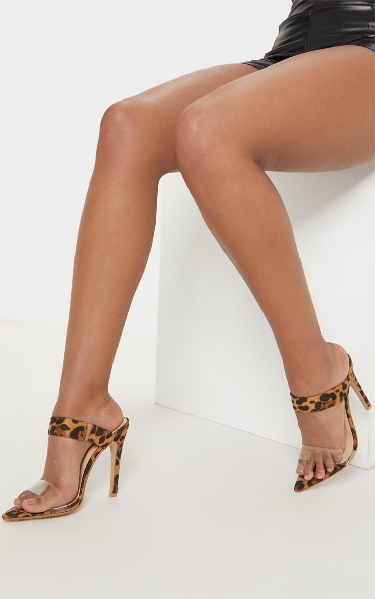 Leopard Point Toe Twin Strap Sandal 2