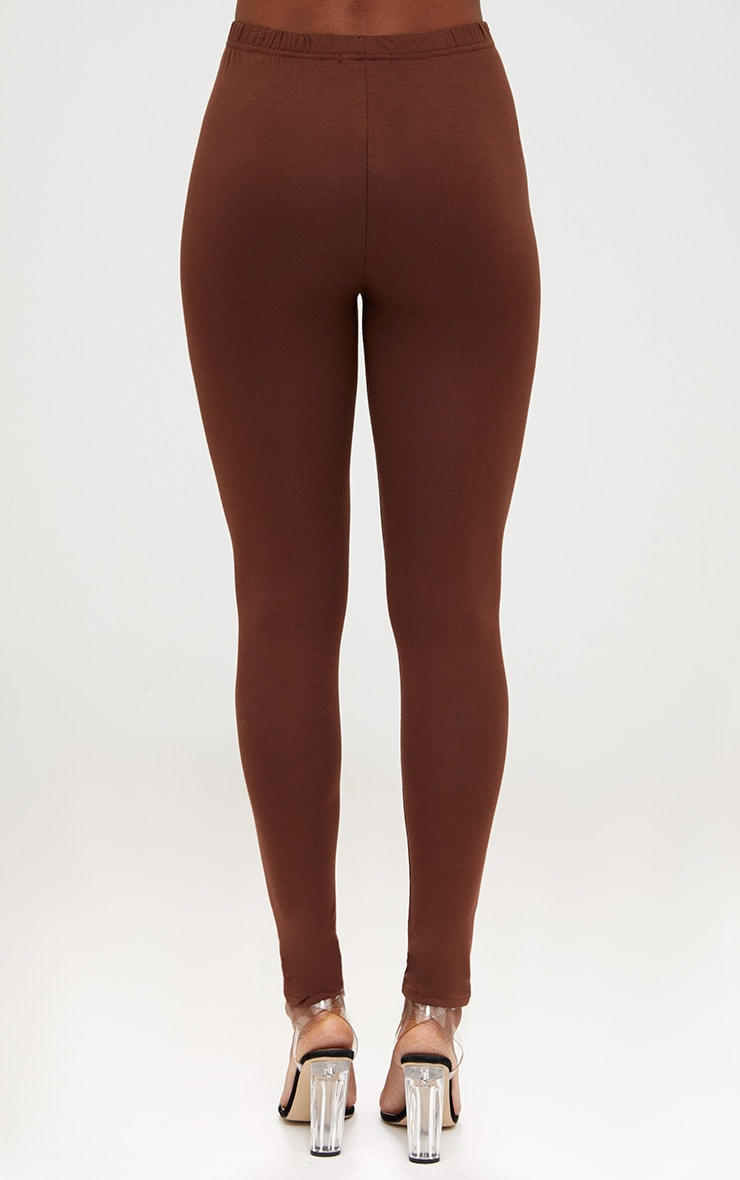 Basic Brown and Burgundy Jersey Leggings 2 Pack 6