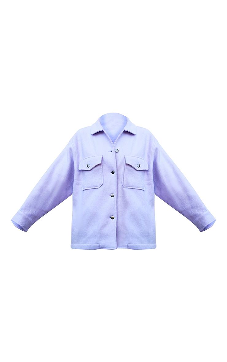Lilac Pocket Front Shacket 5