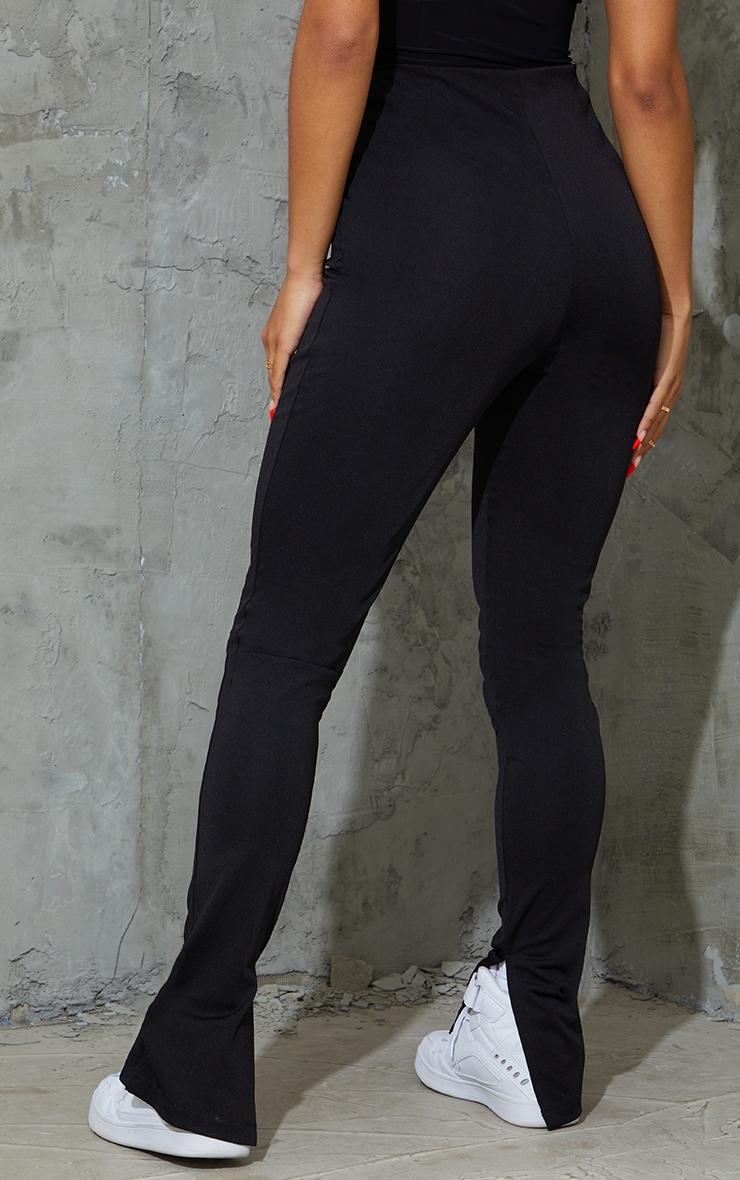 Black Stretch Detail Skinny Trousers 3