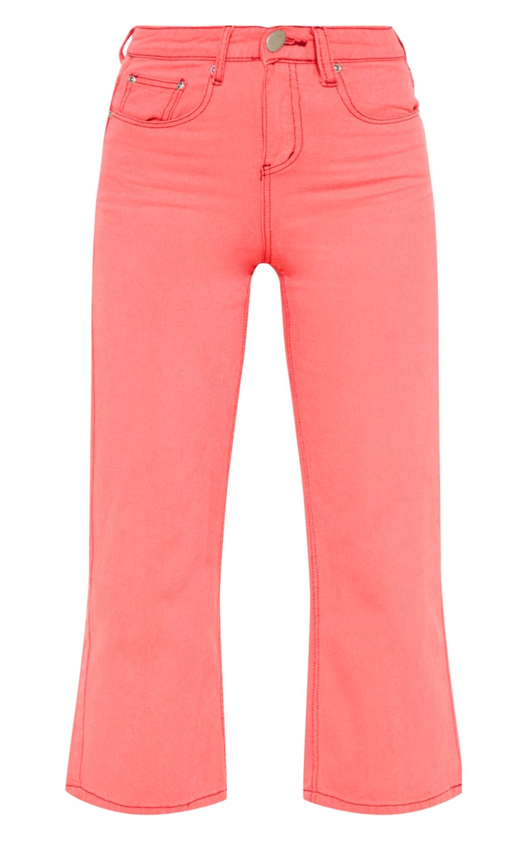 Washed Pink Wide Leg Utility Cargo Jeans 3