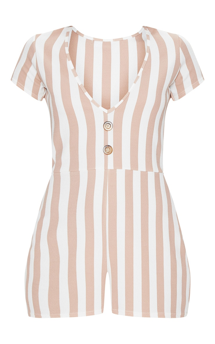 Stone Stripe Tortoise Shell Playsuit 3