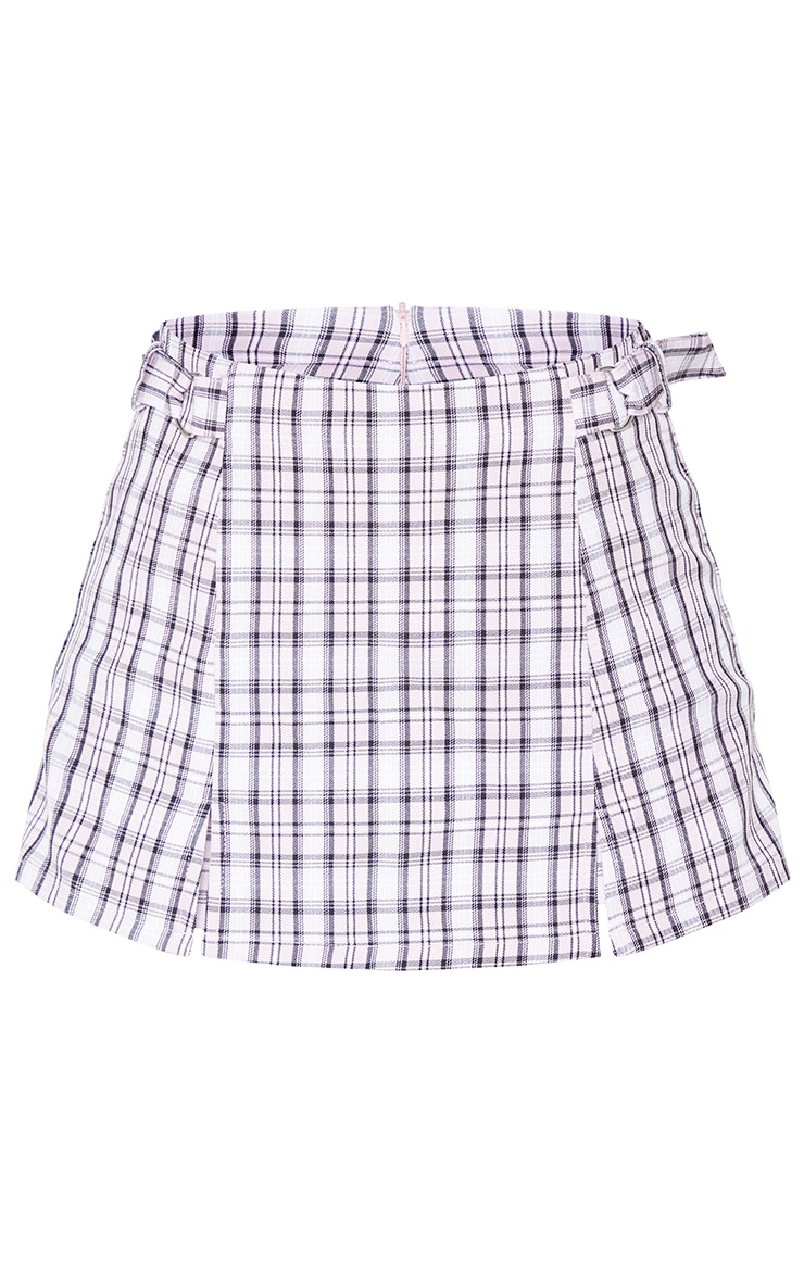 Pink Woven Checked Skort 6