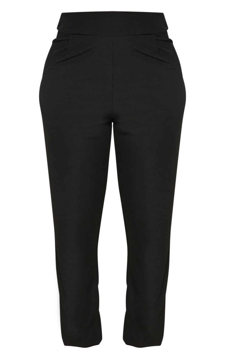 Shape Black Ribbed Cuff Detail Joggers 3