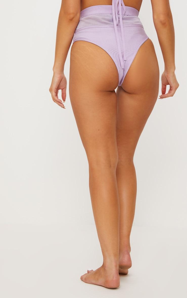 Premium - Bas de maillot lilas style bandage à pierres irisées 5