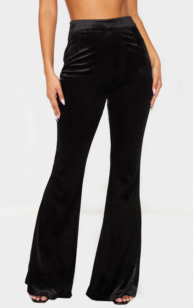 Black Velvet Tailored Extreme Flared Pants  2