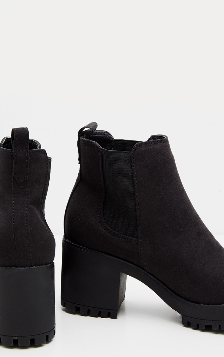 Black Chunky Chelsea Boot 4