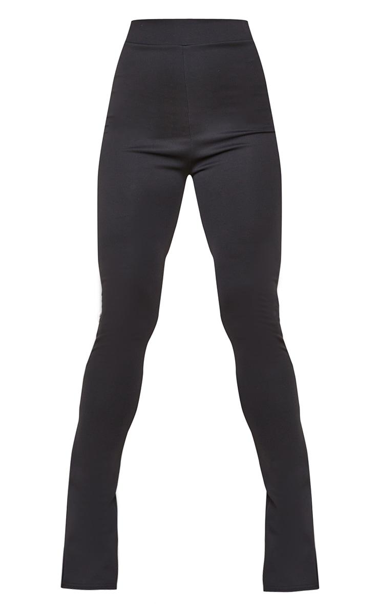 Tall Black Back Split Hem Pants 5