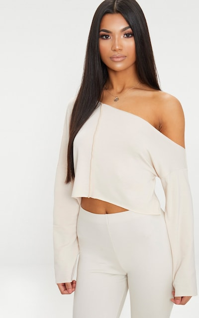 97448280becb Off White Off Shoulder Sweater