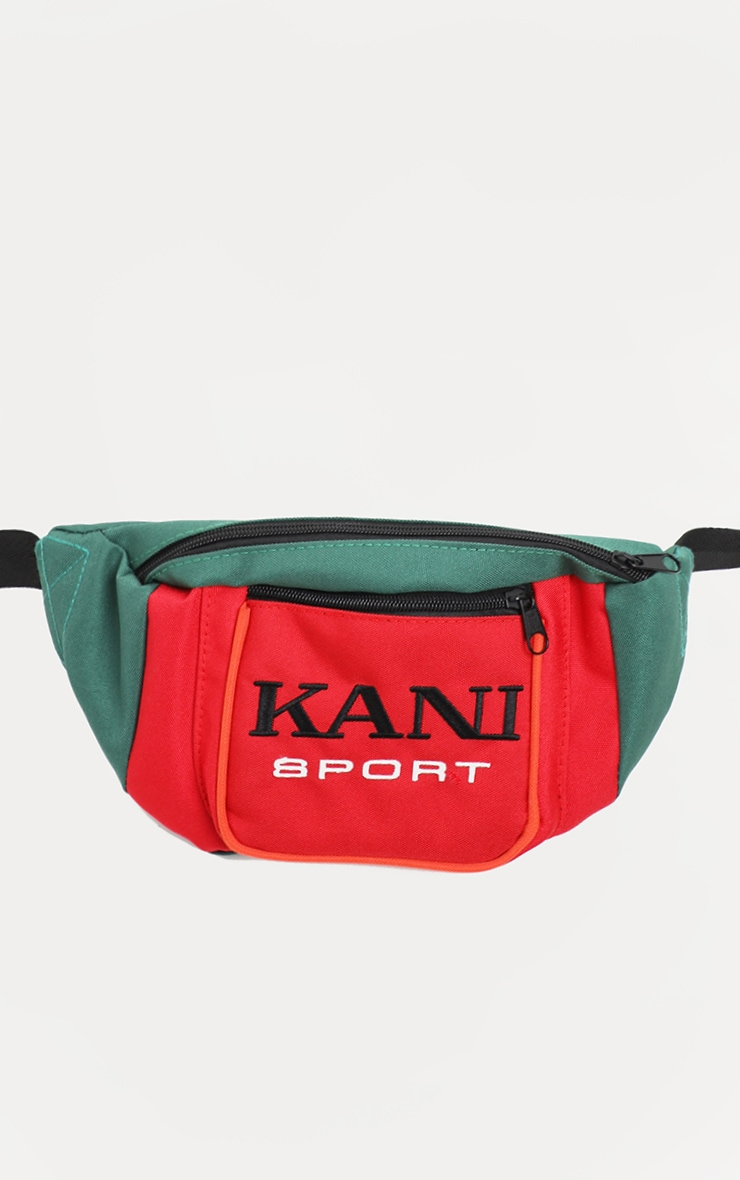 KARL KANI Red Colour Block Fanny Pack 5
