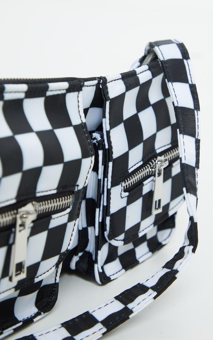 Black Checkerboard Shoulder Bag 4