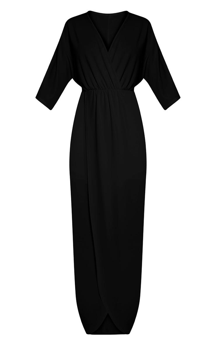 Archer robe maxi cape noire 3