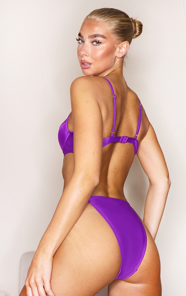 Purple Mix & Match Push Up Cupped Bikini Top 2