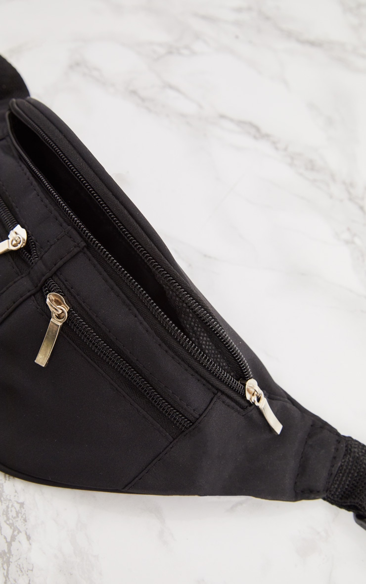 Black Zip Bum Bag 6