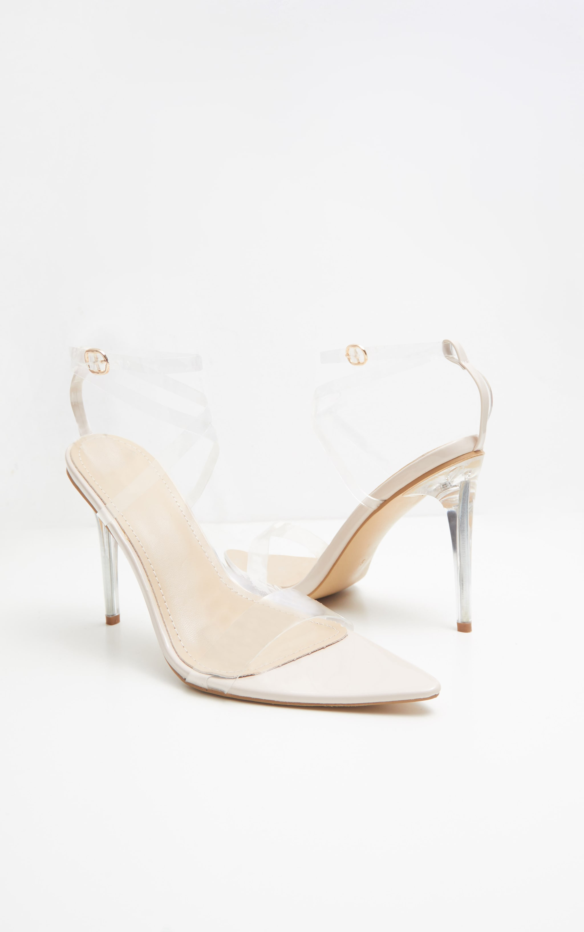Nude Point Toe Clear Strappy Sandal  3