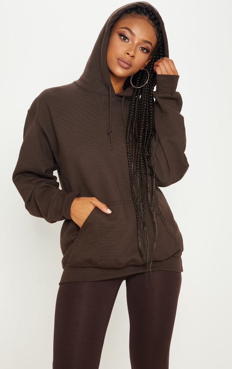Chocolate Ultimate Oversized Hoodie 1
