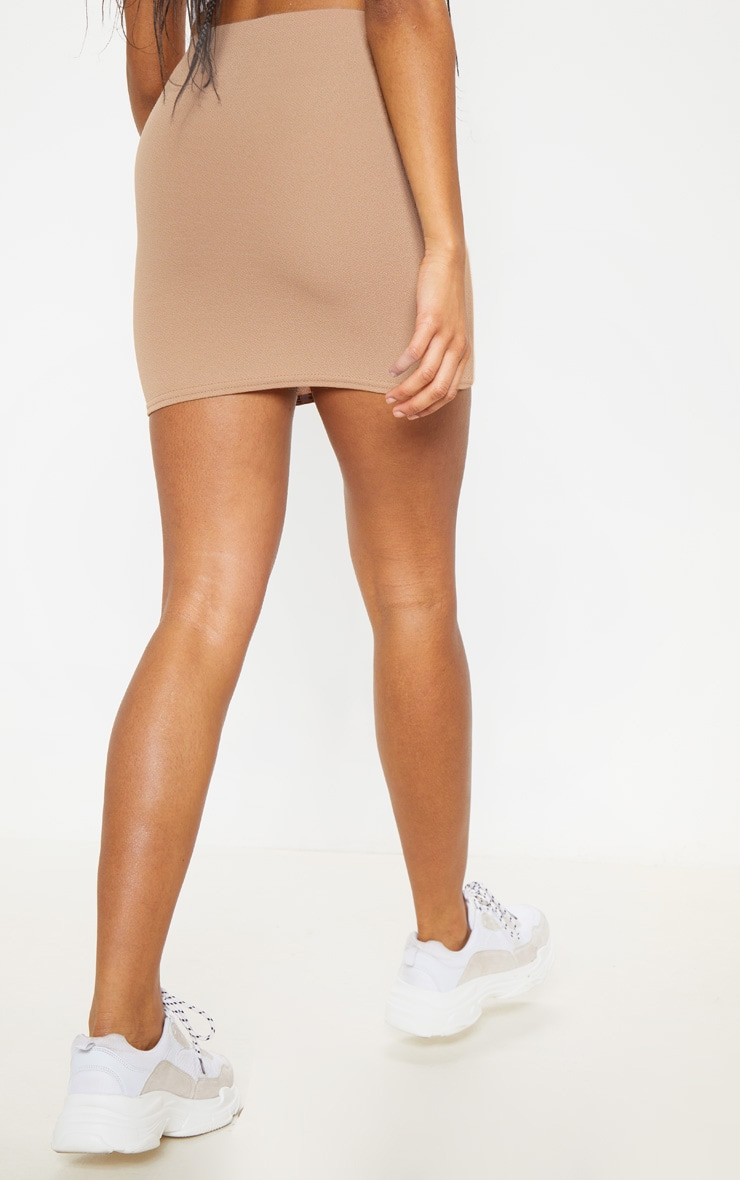 Camel Mini Suit Skirt 4