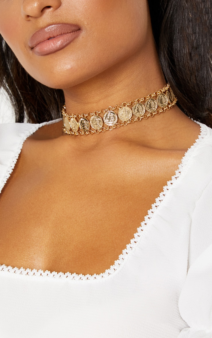 Gold Coin Choker 1