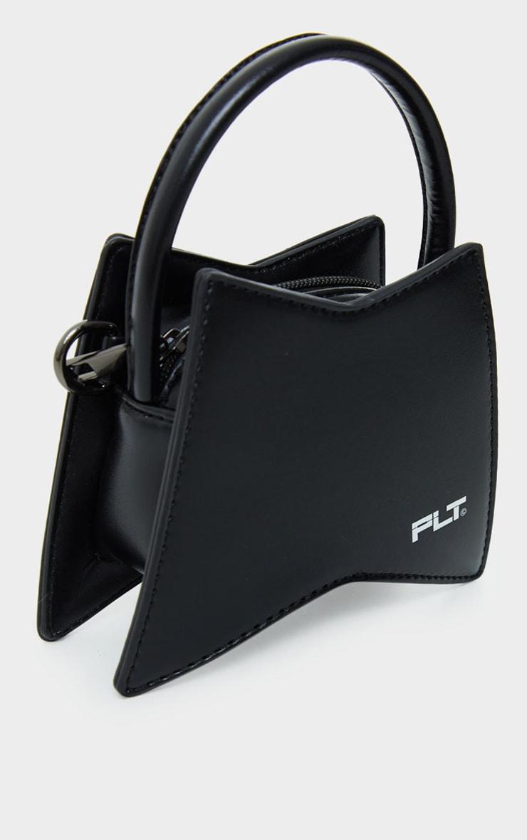 PRETTYLITTLETHING Black Triangular Mini Bag 3
