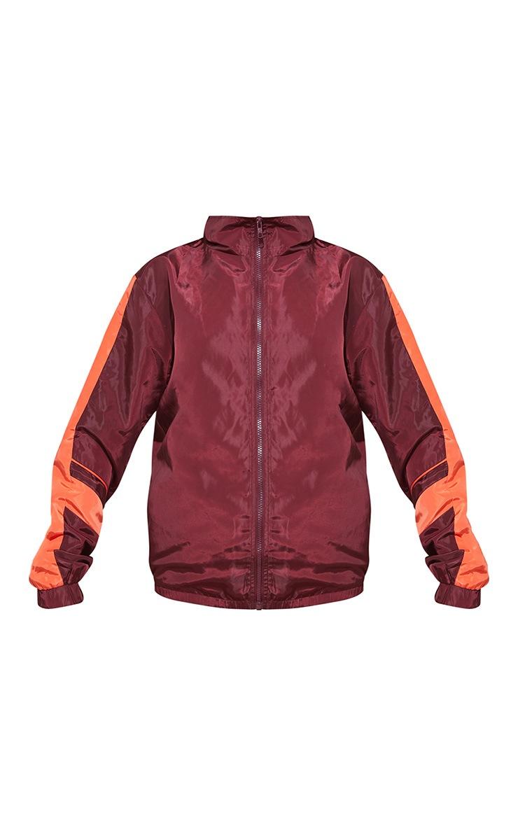 Maroon Stripe Shell Jacket 4
