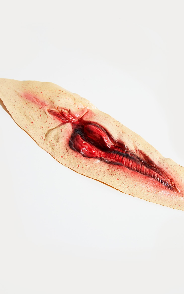 Halloween Special Effects Slashed Throat 2