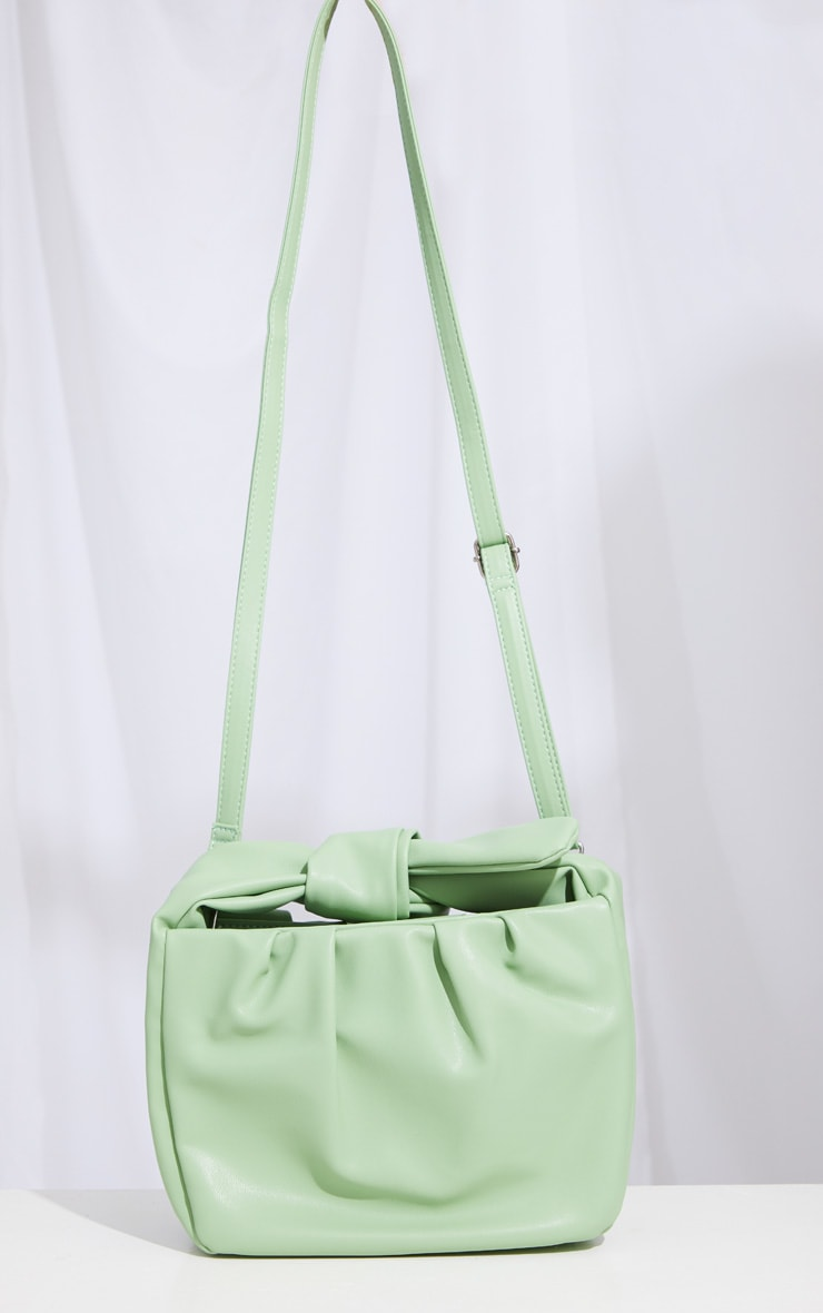Sage Green Oversized Knot Crossbody Bag 2