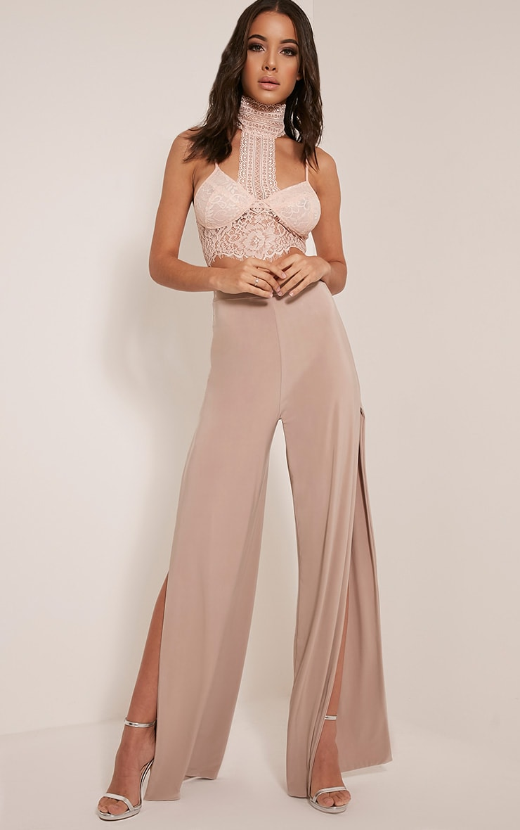 Darsee Stone Side Split Slinky Trousers  1