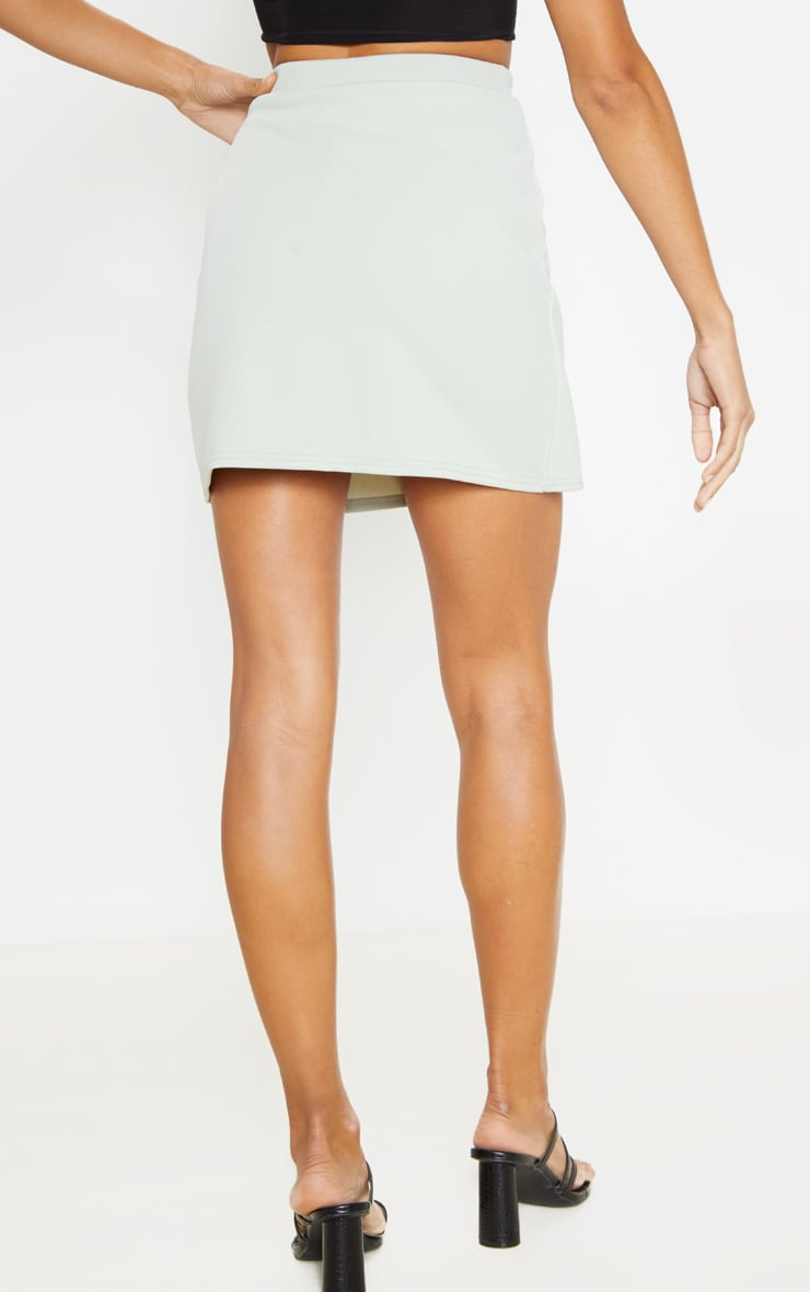 Sage Button Skirt  4