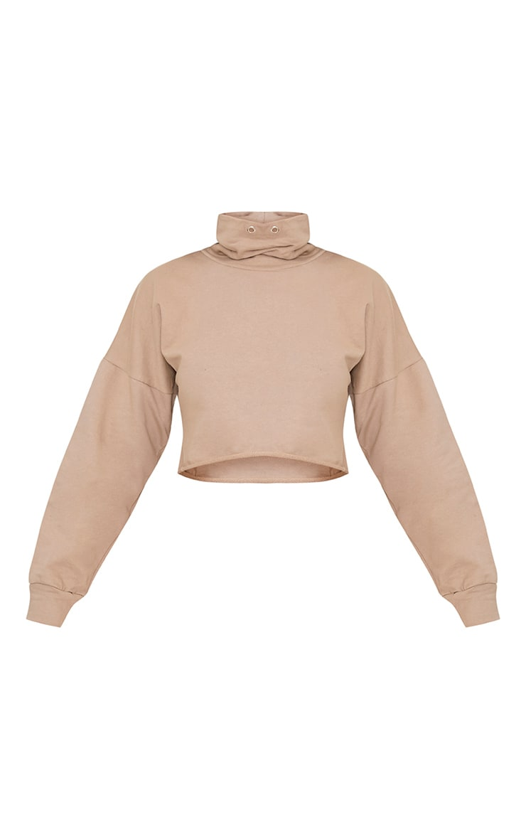Cailin Taupe Funnel Neck Sweater 3