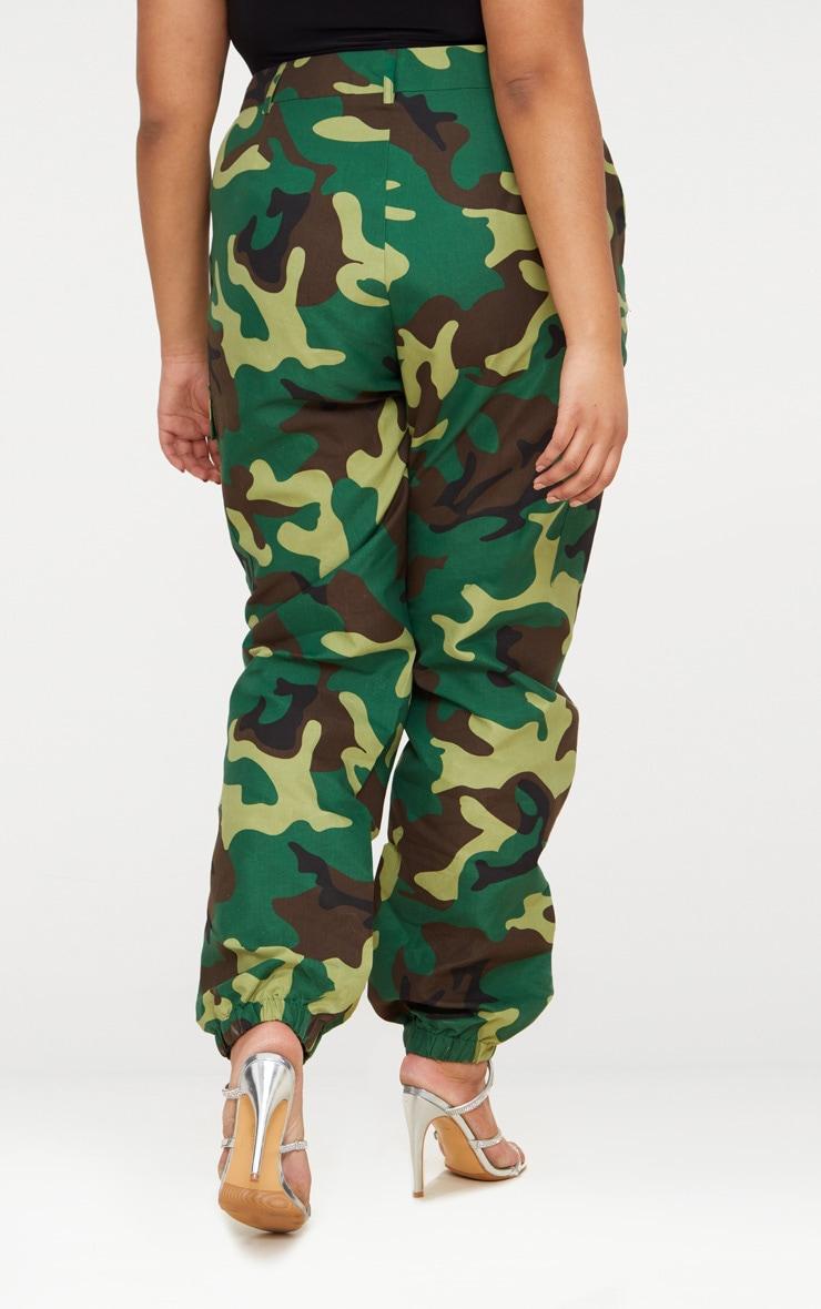 PLT Plus - Pantalon cargo camouflage kaki 4