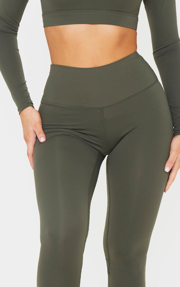 Khaki Sculpt Luxe Cropped Gym Legging 4