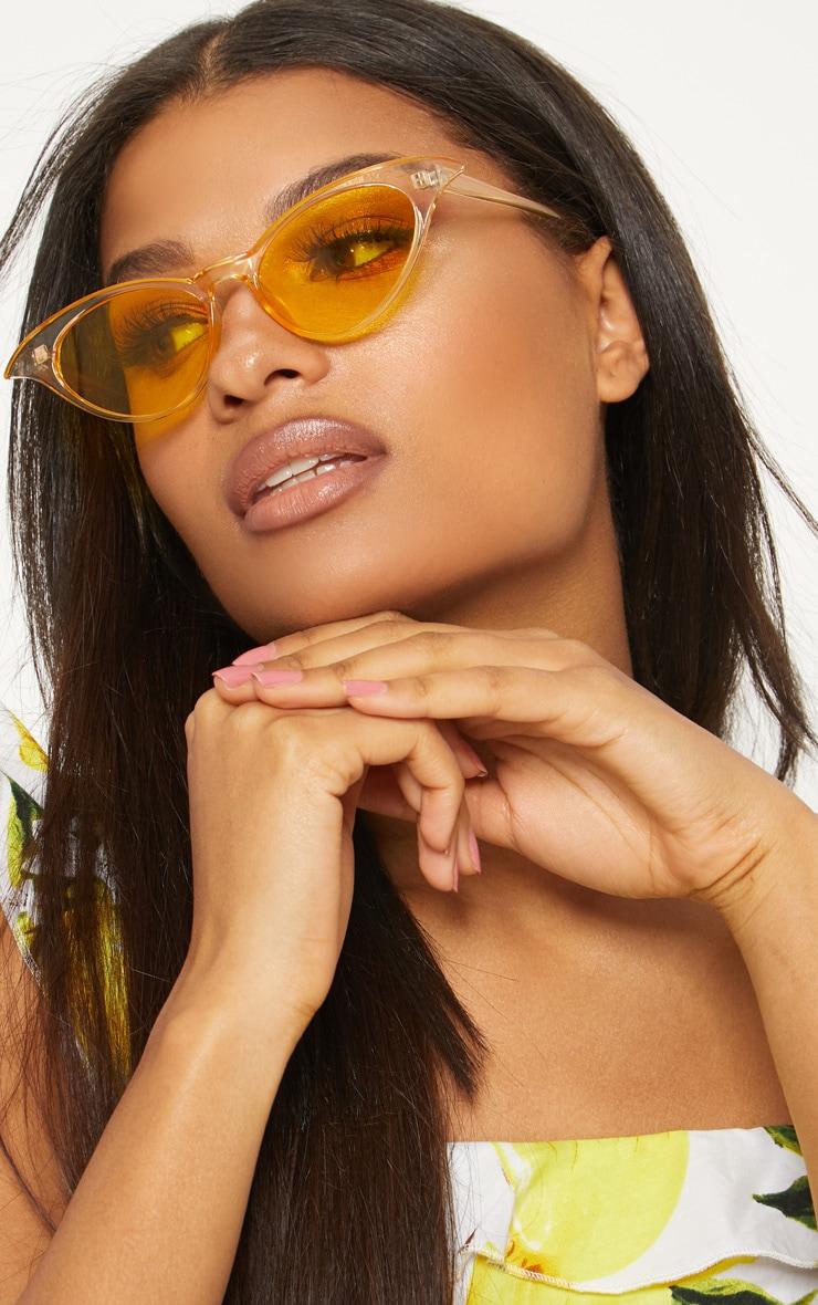 Yellow Drop Cat Eye Sunglasses 1