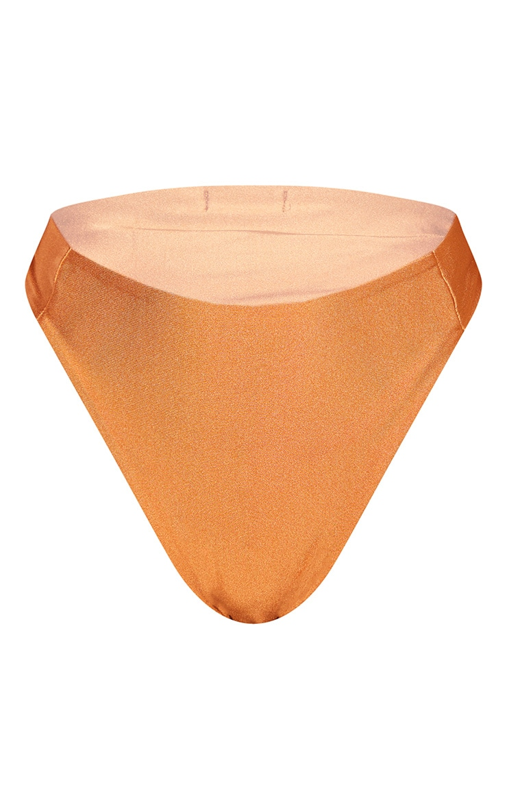 Shape Brown Seam Detail Bikini Bottom 3