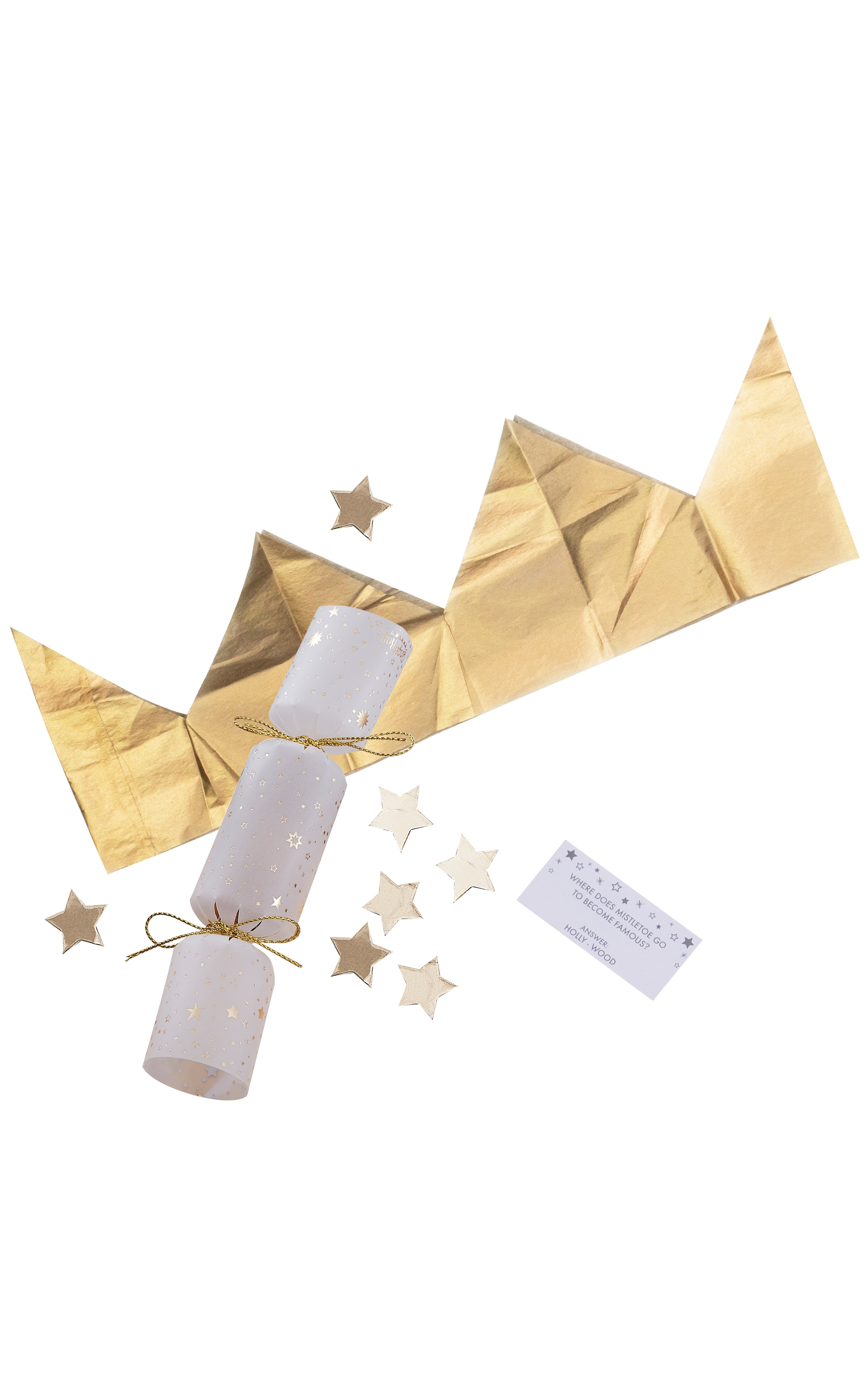 Ginger Ray Crackers Confetti Filled Gold 2