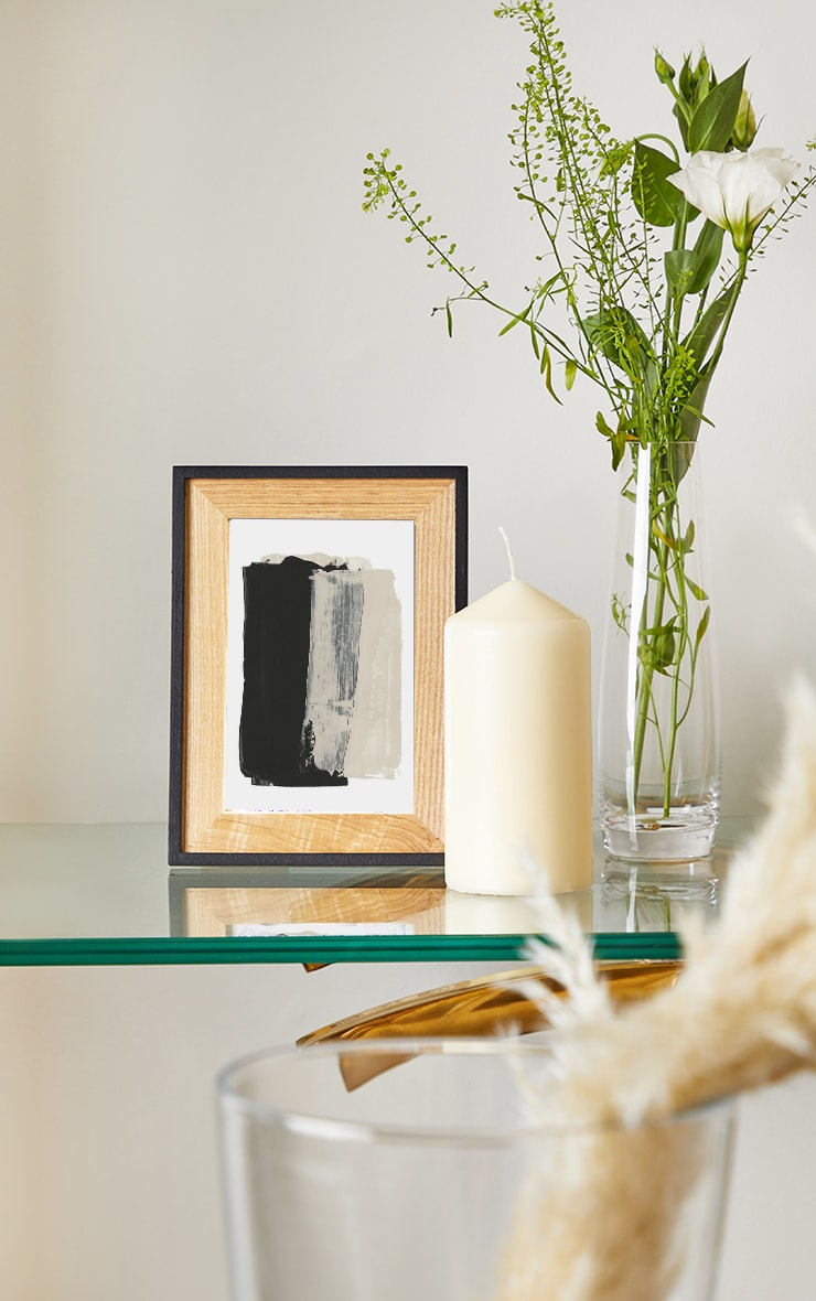Black & Natural Wood Frame 1