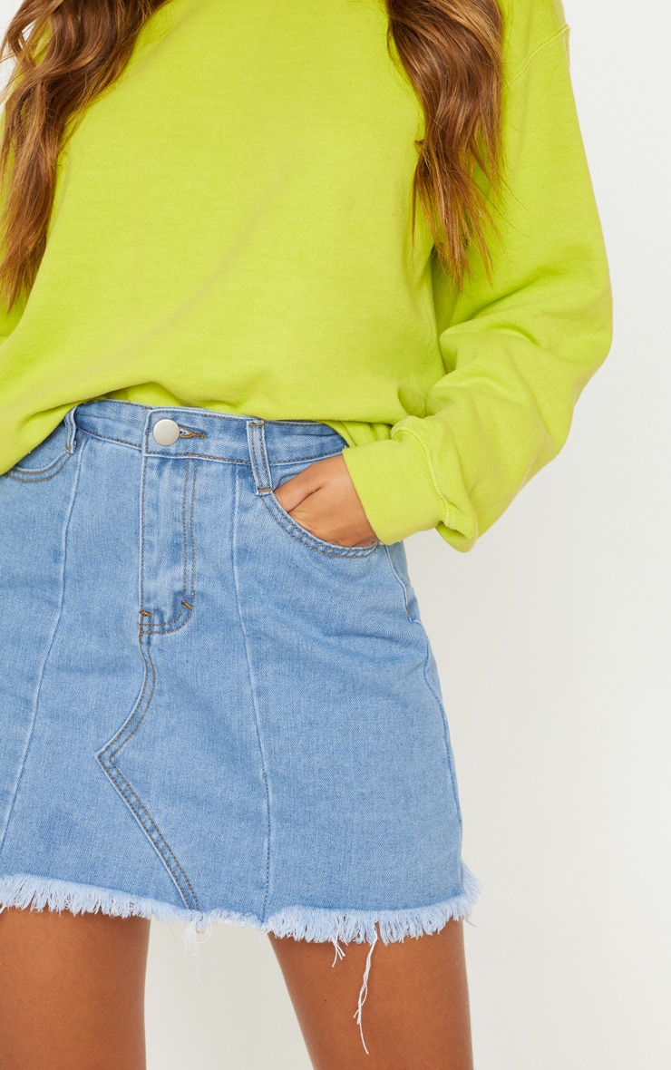 Light Wash Basic Denim Skirt  6