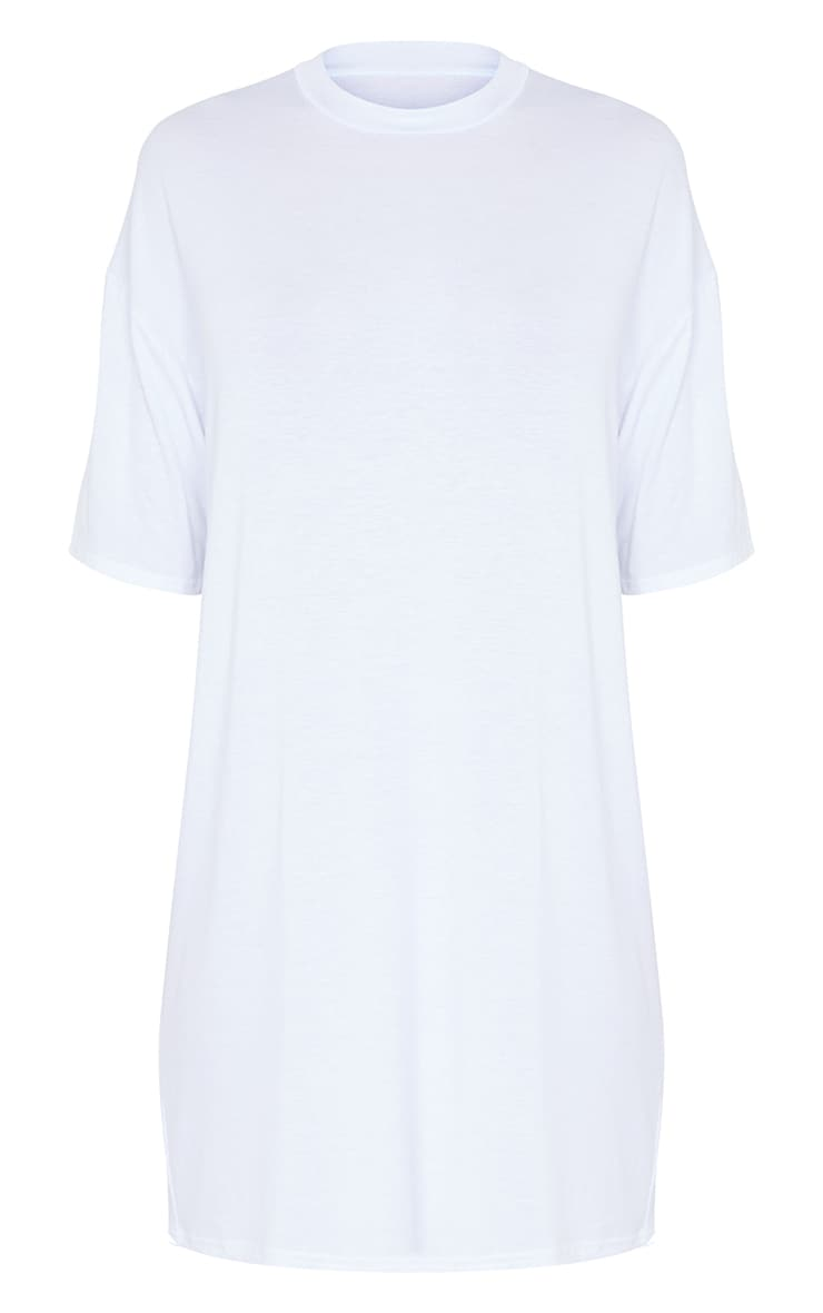 Tall White Oversized T-Shirt Dress 6