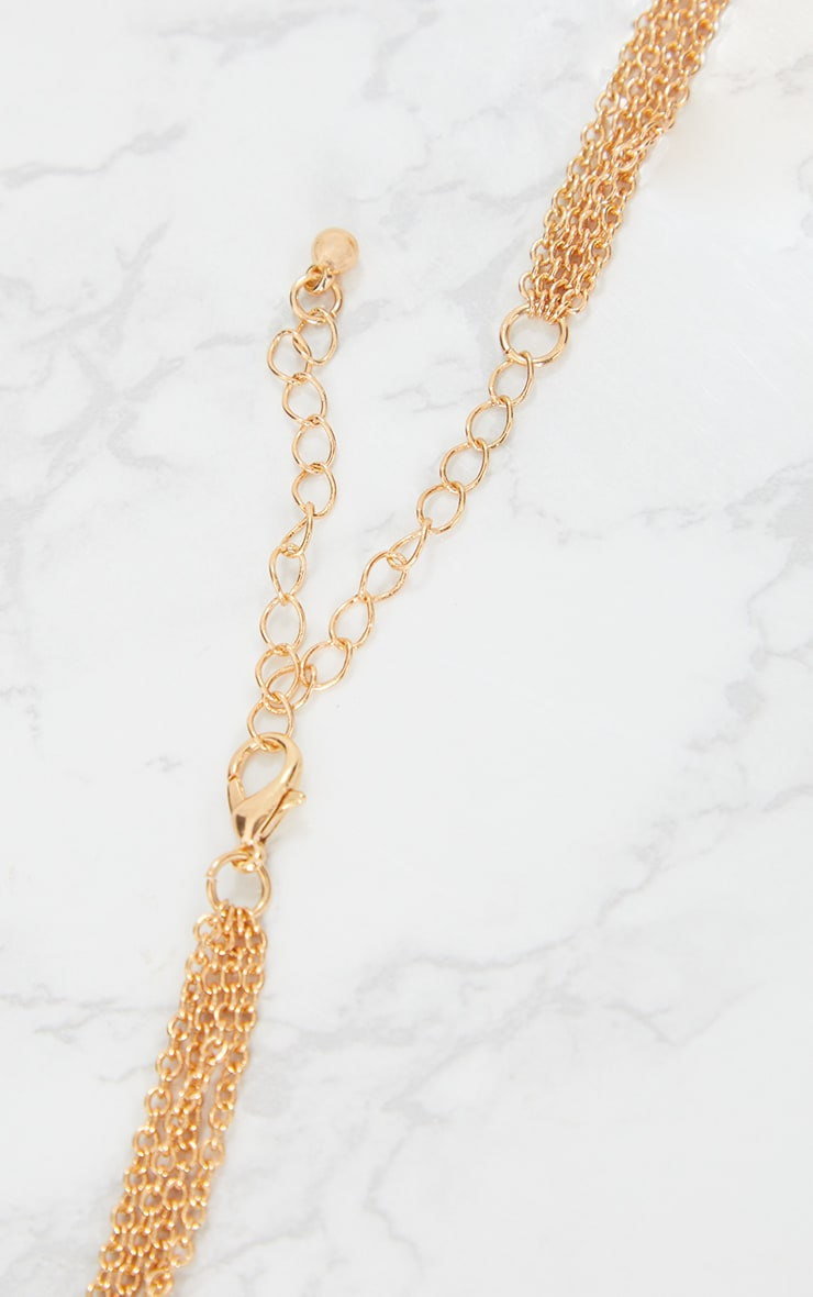 Gold Multi Layer Necklace 5