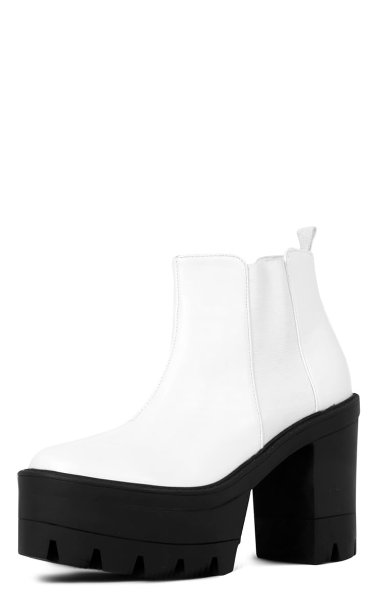 Coco Monochrome Leather Chunky Chelsea Boot  3