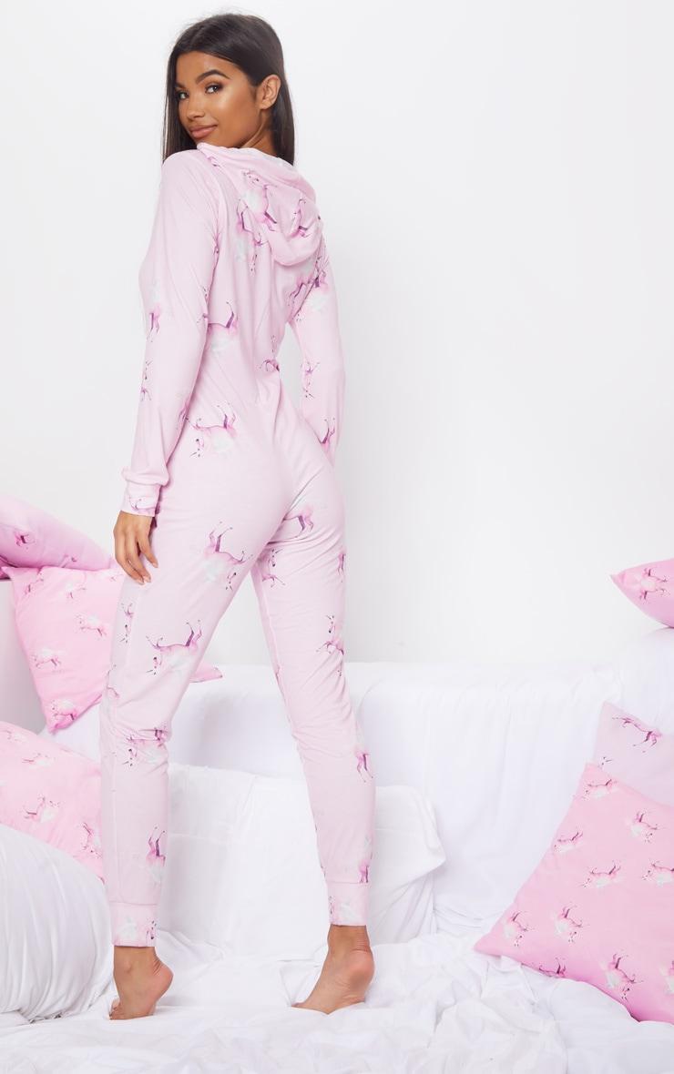 PRETTYLITTLETHING Pink Unicorn Print Onesie 4
