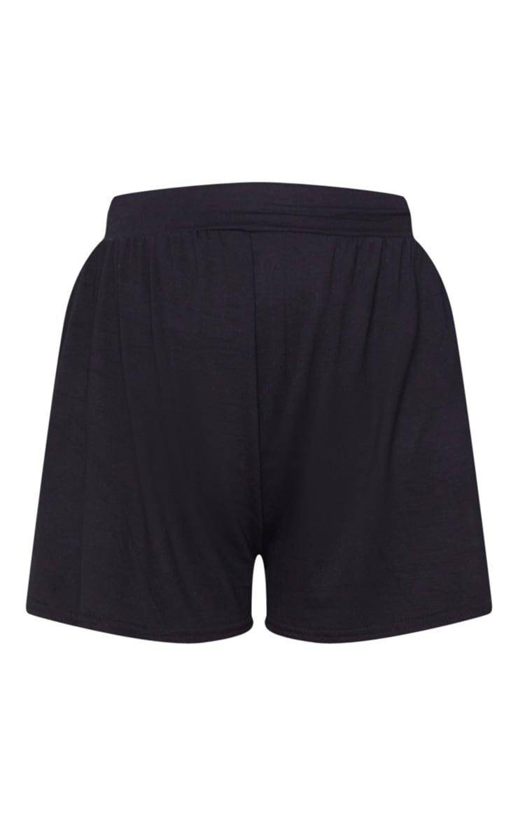 Black Jersey Floaty Shorts 6