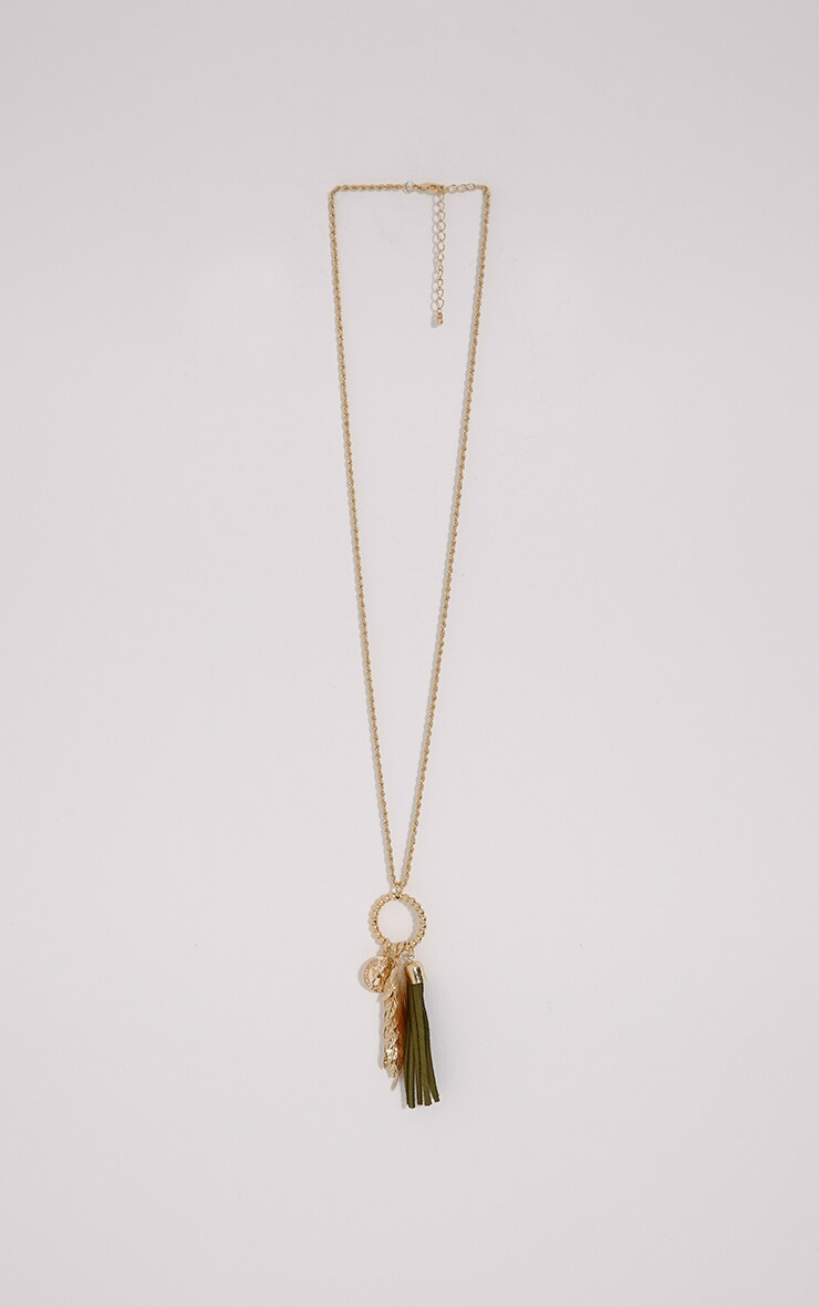 Mimi Gold Long Charm Necklace 1