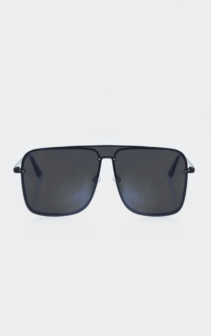 Black Revo Square Frame Oversized Sunglasses 2