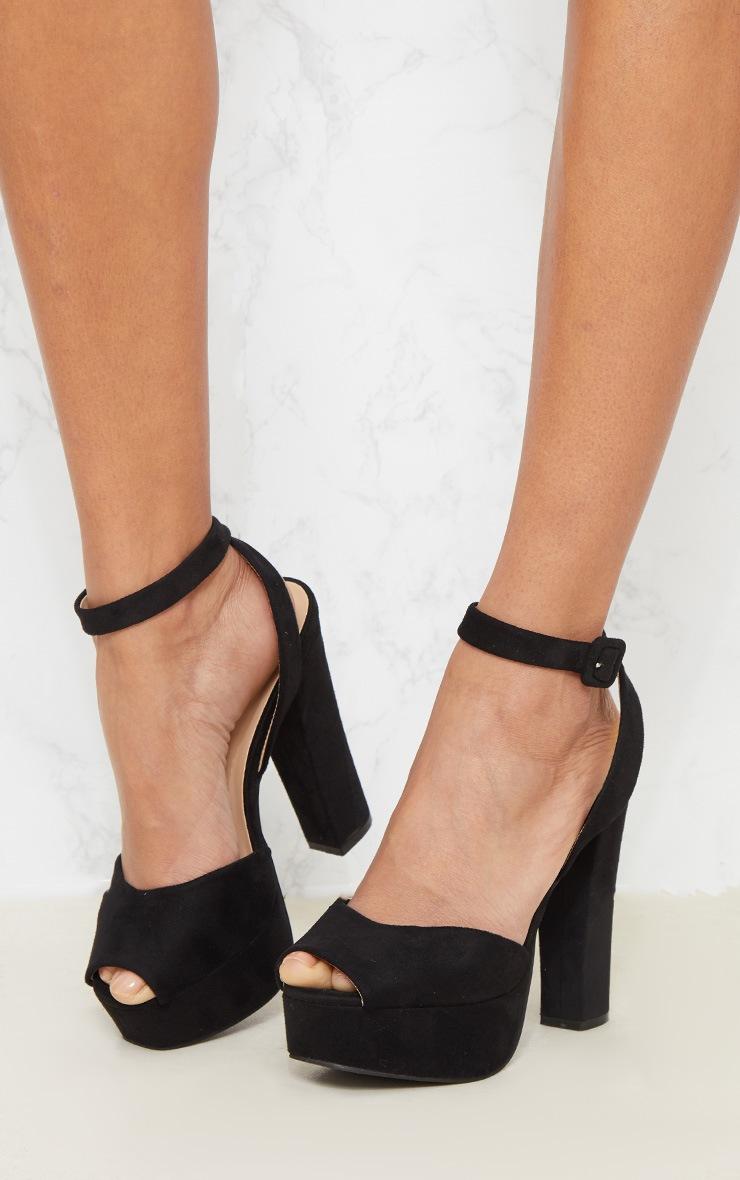 Black Platform Sandal 2