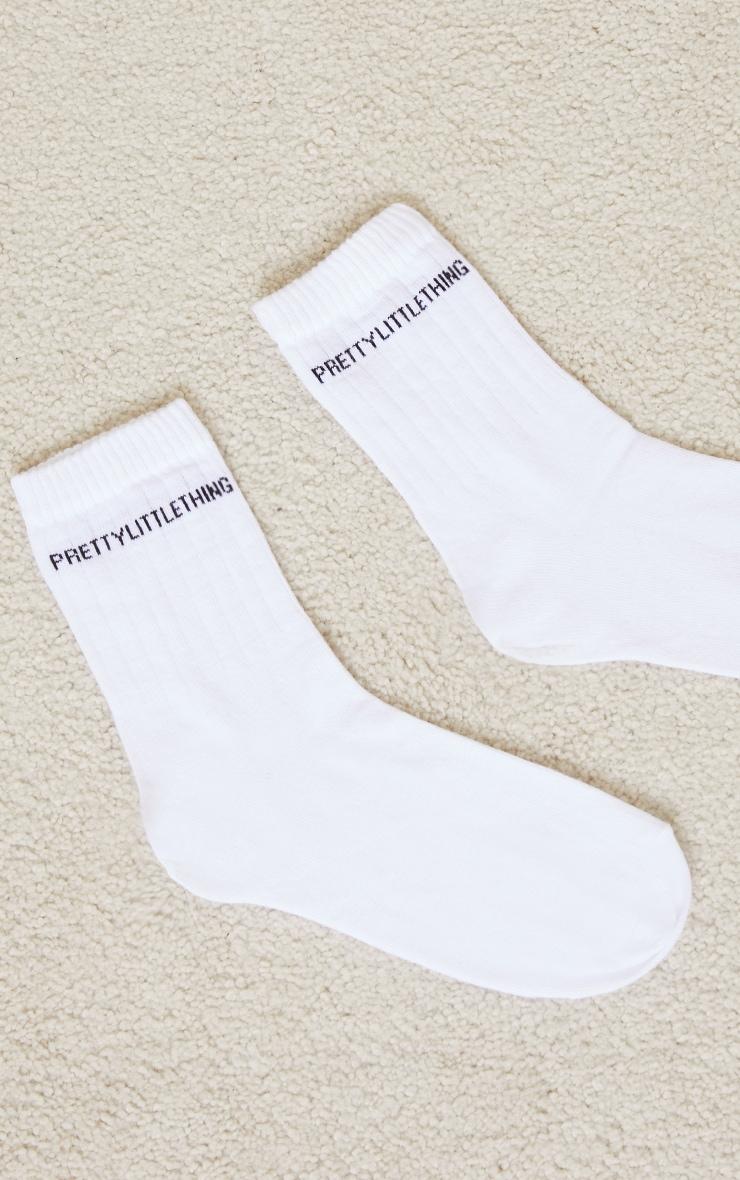 PRETTYLITTLETHING White Basic Socks 3