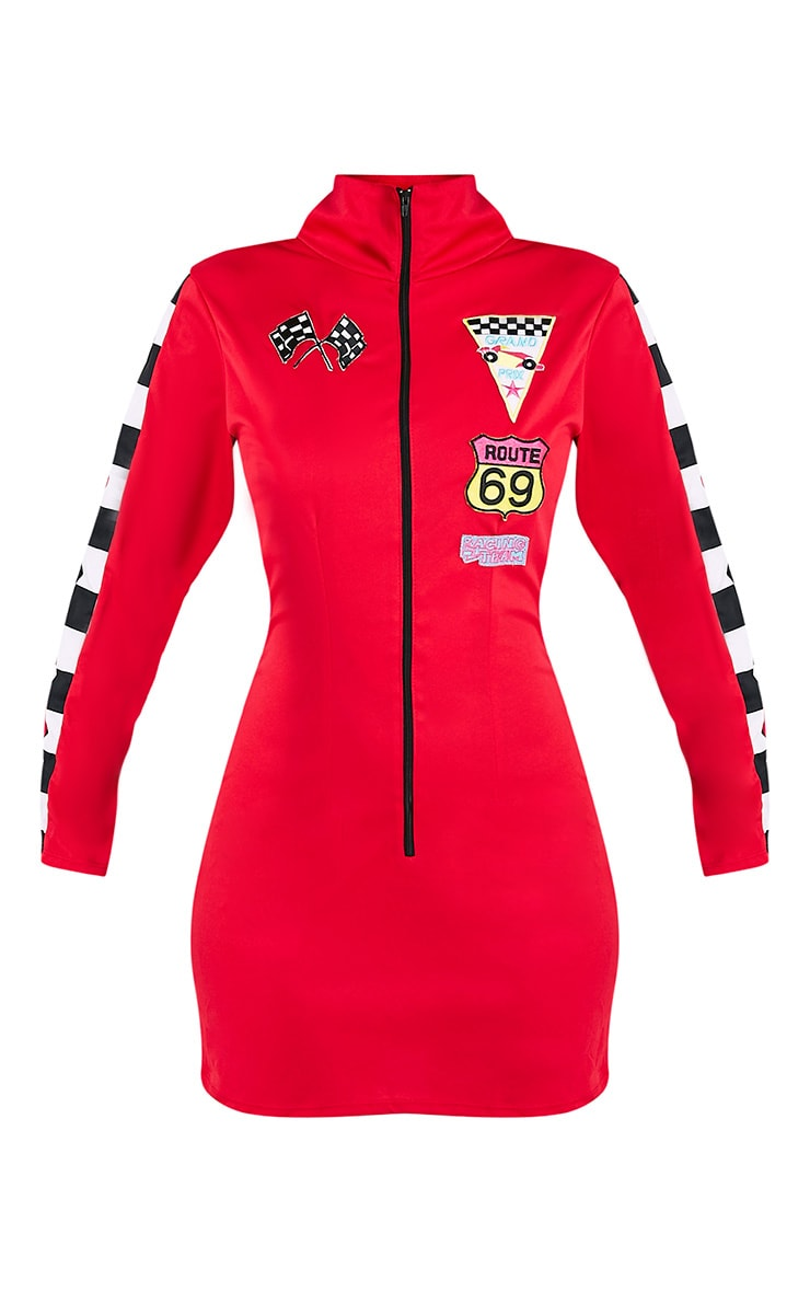 Racer Girl Red Fancy Dress Costume 3
