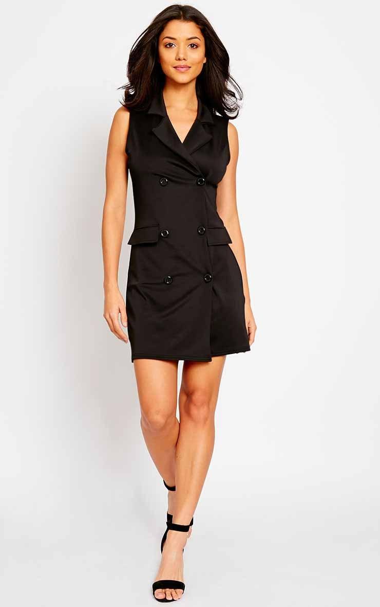 Thea Black Blazer Dress 3