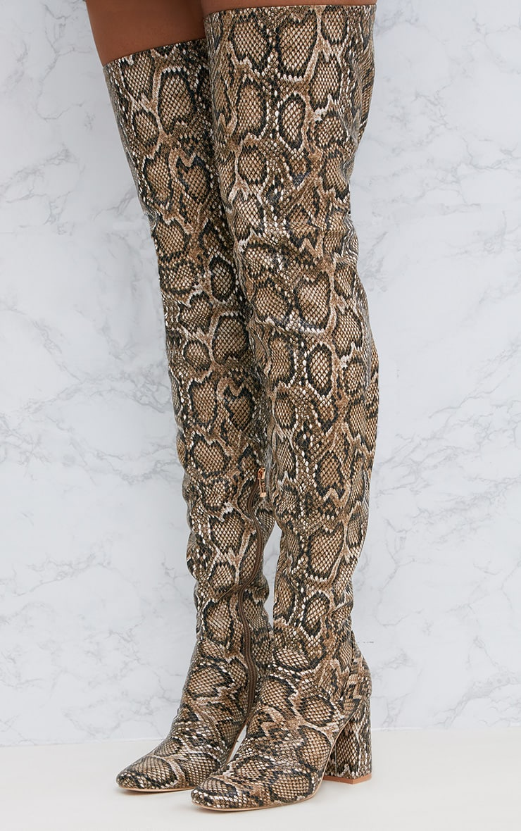 Snake PU Thigh Boot 2